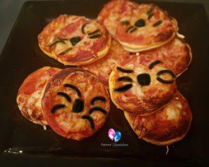 mini pizza araignée