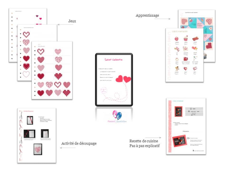 Livret apprentissage dessin coeur enfant